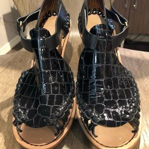 Thakoon croc pattern patent heels